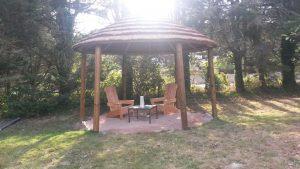 Abri de jardin en bois avec relax en bois